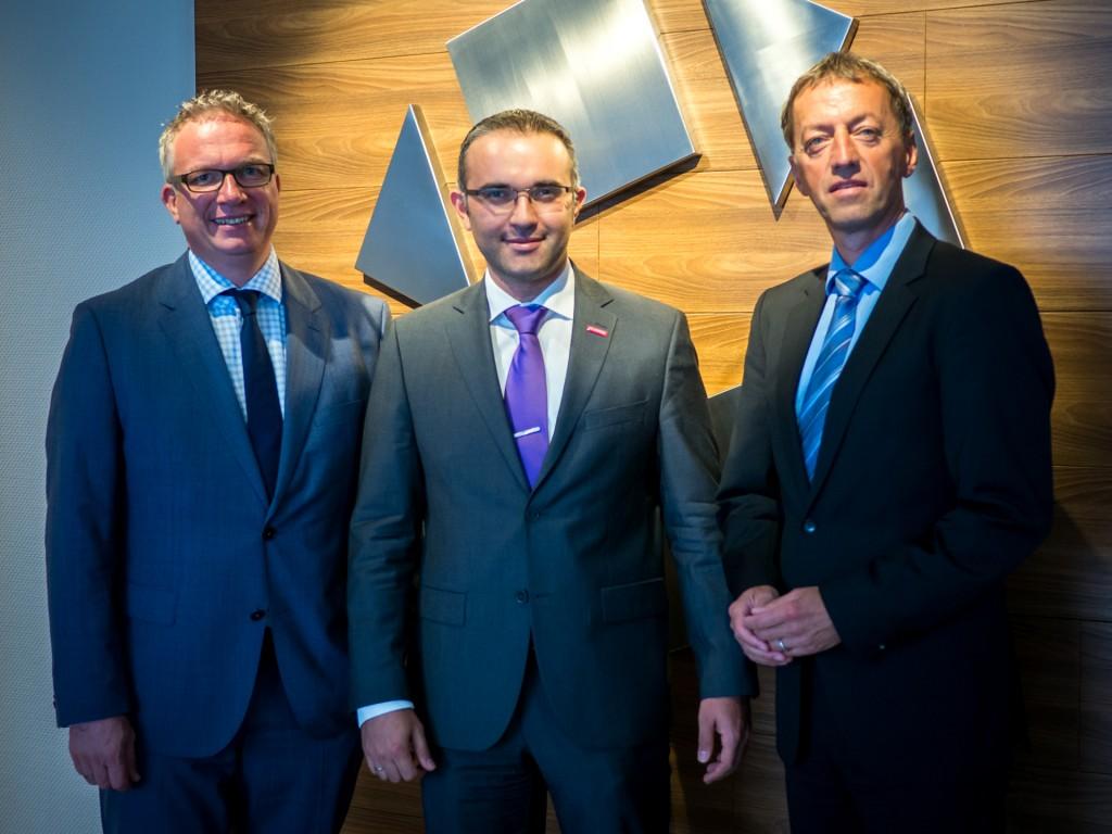 HGF Frank Tischner, HGF Korhan Ekinci und GF Günter Schrade