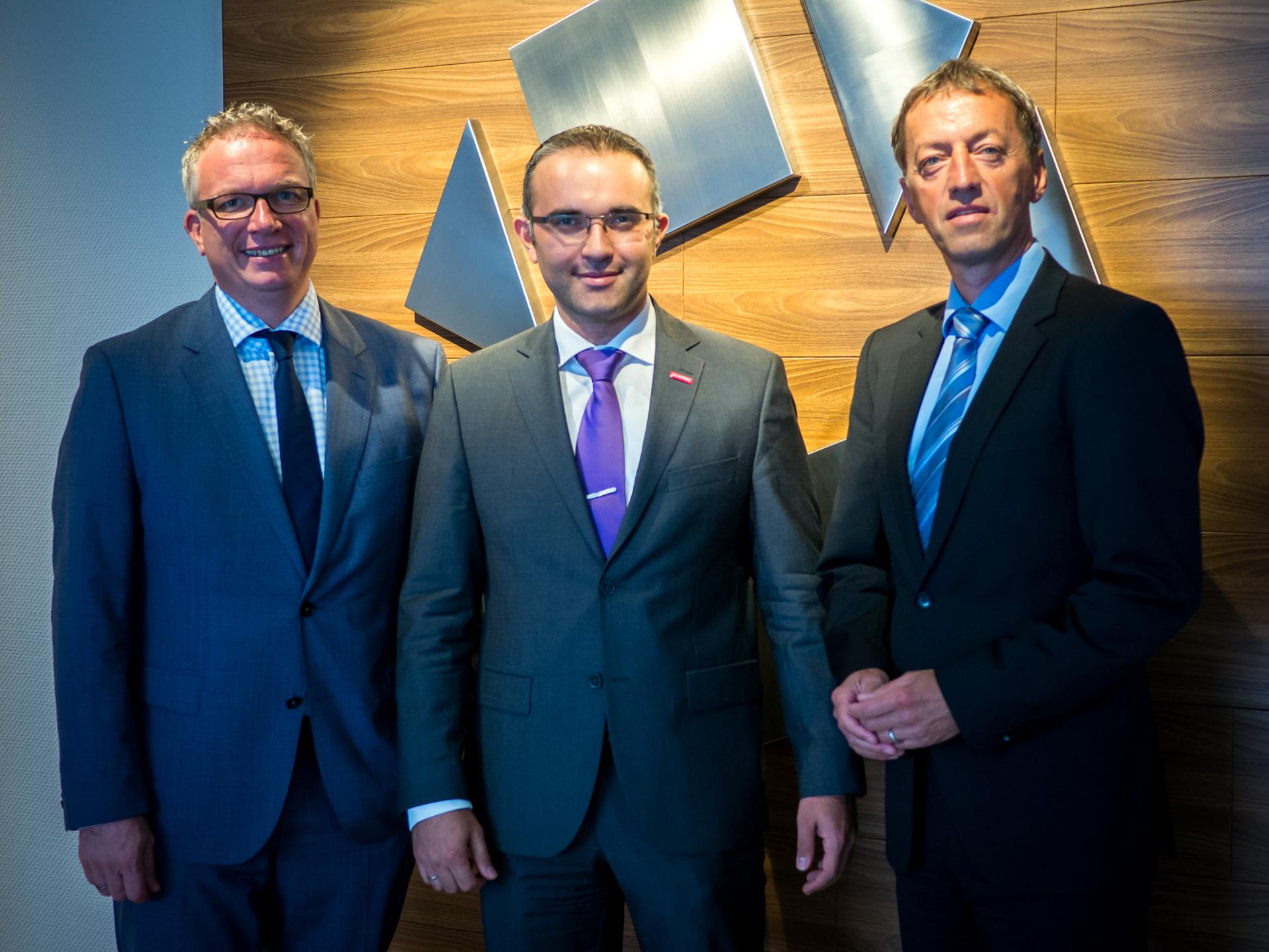 HGF Frank Tischner, HFG Korhan Ekinci und GF Günter Schrade